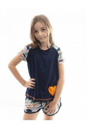 pijama infantil de dinossauro feminino mania pijamas 2