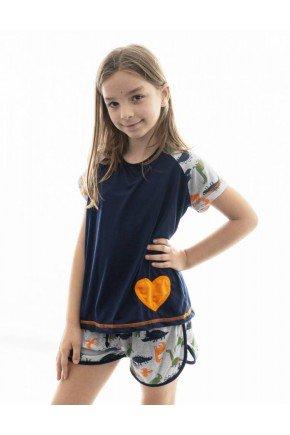 pijama infantil de dinossauro feminino mania pijamas 4