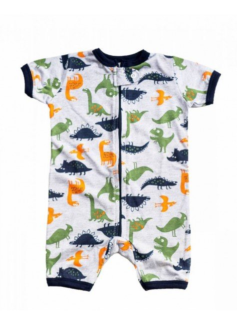 macacao para bebe curto dinossauros