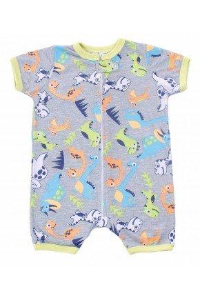 macacao para bebe curto dinossauros coloridos
