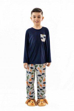 pijama infantil dinossauro masculino longo de malha mania pijamas 6