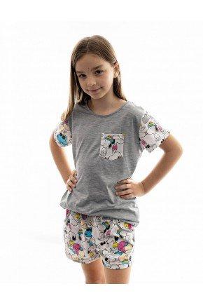 pijama infantil feminino snoopy curto com shorts 1