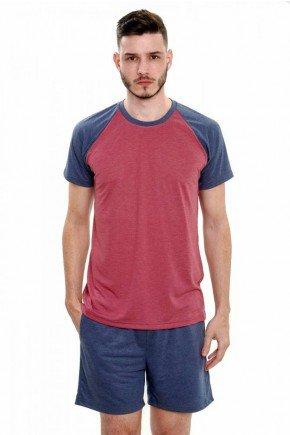 pijama masculino de malha curto mescla 6