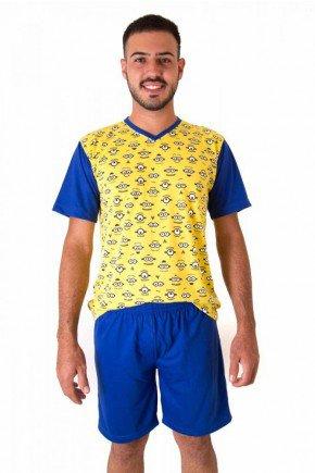 pijama masculino curto camiseta com shorts minions 4