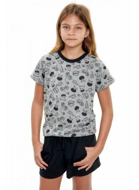pijama infantil menina monstrinhos curto 4