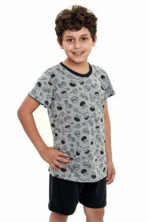 pijama infantil de menino curto monstrinhos 2
