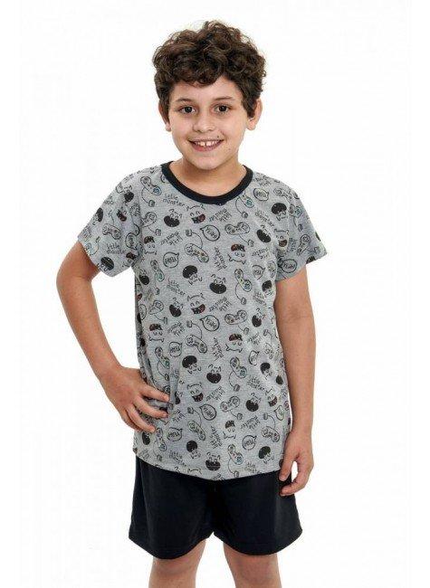 pijama infantil de menino curto monstrinhos 4