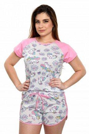 pijama de unicornio feminino curto verao 6