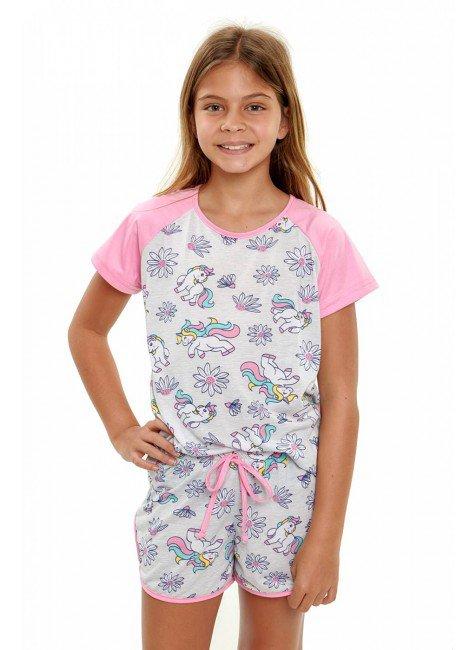 pijama de unicornio infantil menina manga curta 4