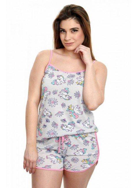 pijama de unicornio curto alcinha verao 5
