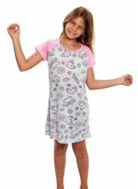 camisola de unicornio feminina infantil menina manga curta 2