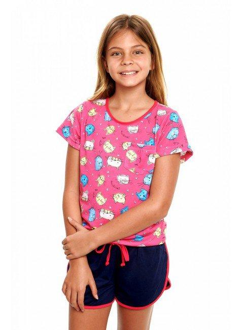 pijama de gatinhos feminino infantil manga curta 4