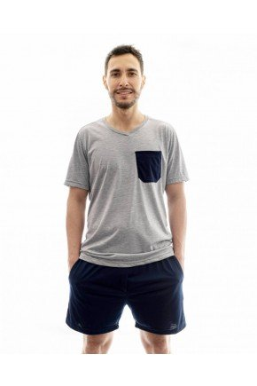 pijama masculino adulto curto com shorts 4
