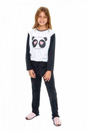 pijama de panda infantil longo com calca 4