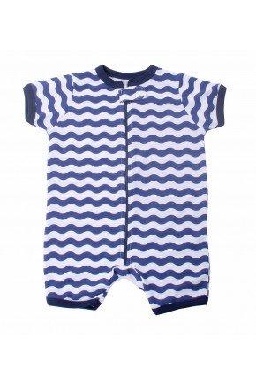 pijama macacao para bebe curto listrado 2