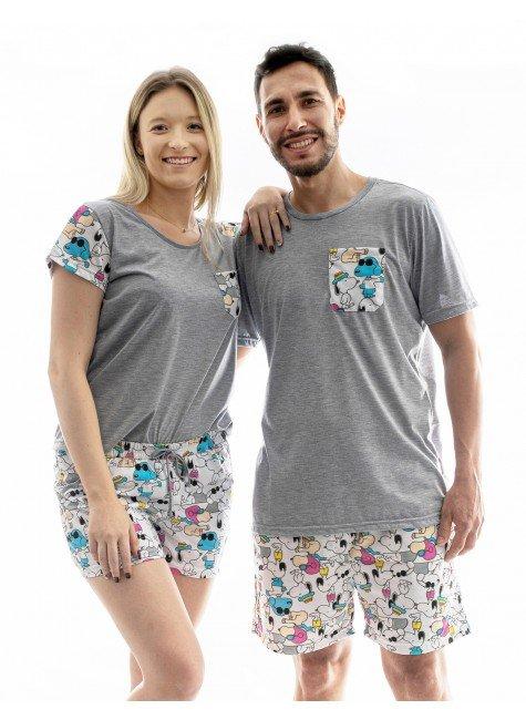 snoop pijama casal namorado curto snoop 5