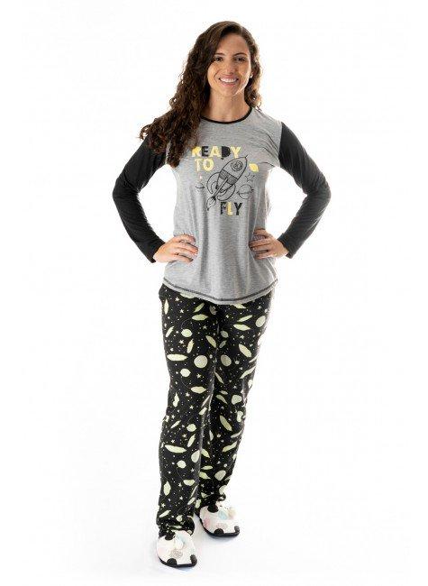 pijama feminino comprido adulto foguetinhos 01
