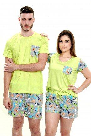 pijamas para casal dinossauros verde mania pijamas