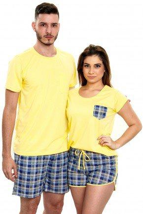 pijama de casal xadrez curto com shorts mania pijamas