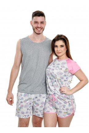 pijama de casal unicornio curto estampa divertida mania pijamas 3