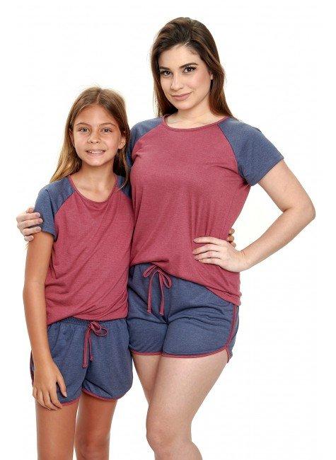 pijama mae e filha curto de malha mania pijamas 2