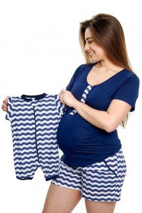 pijama gestante e amamentacao verao curto com shorts mania pijamas 1