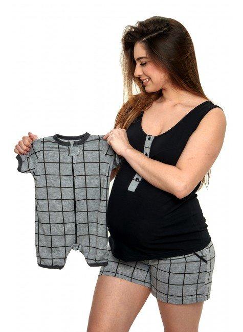 pijama gestante e amamentacao xadrez feminino adulto mania pijamas 12