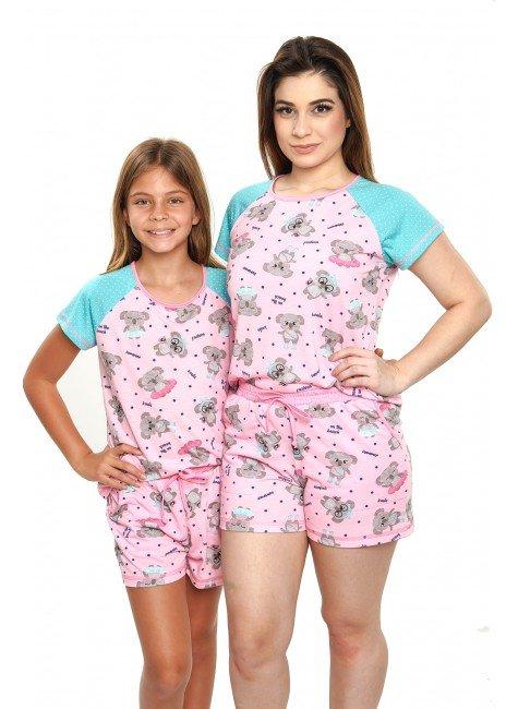 pijama de coala pijamas mae e filha curto com shorts 1