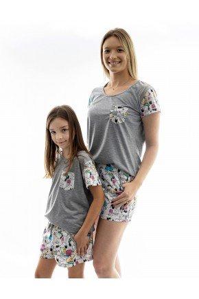 snoop pijama mae e filha snoop curto 1