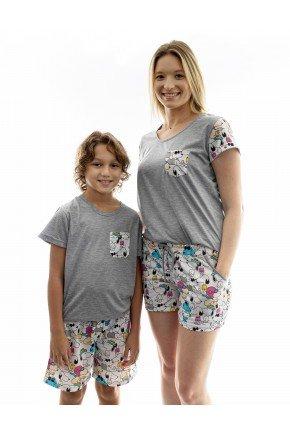 snoop pijama mae e filho curto snoop 14