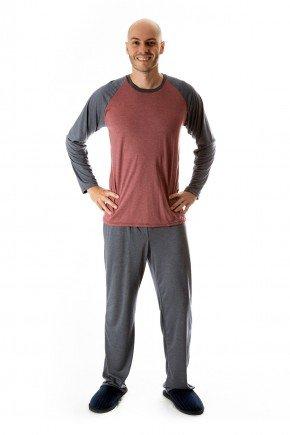 pijama masculino inverno adulto comprido masculino adulto mescla 01