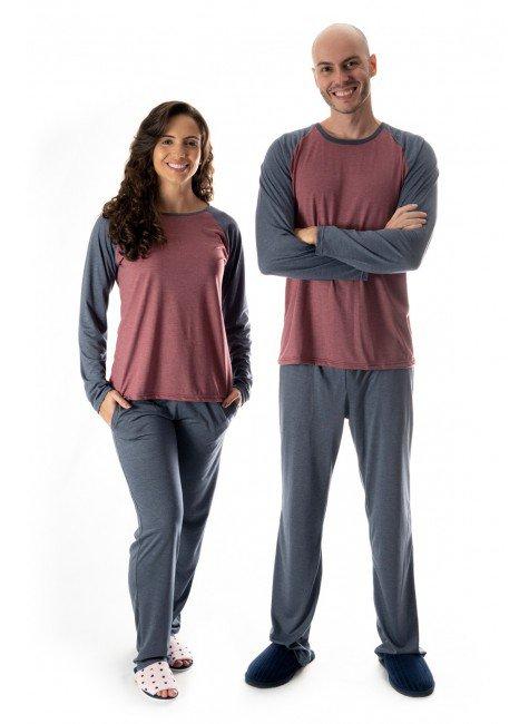 pijama de casal comprido mescla pijamas casal namorados 01