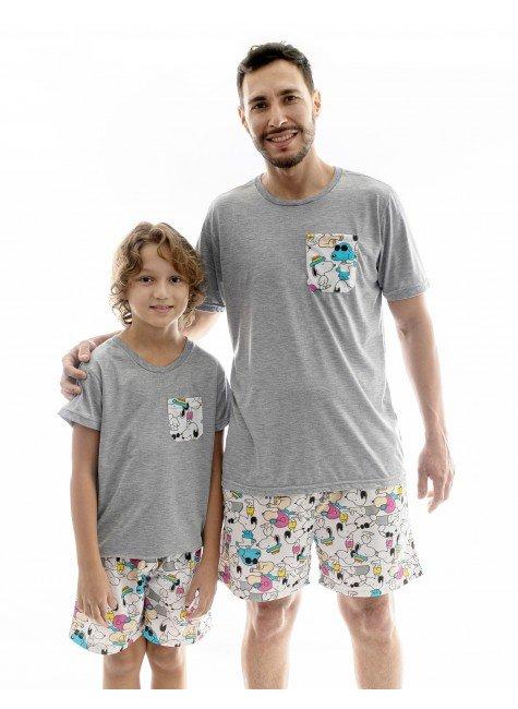 snoop pijama pai e filho curto snoop 1