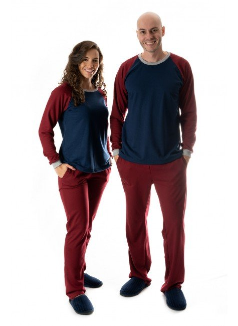 pijama de casal inverno flanelado pijamas casal namorados 01