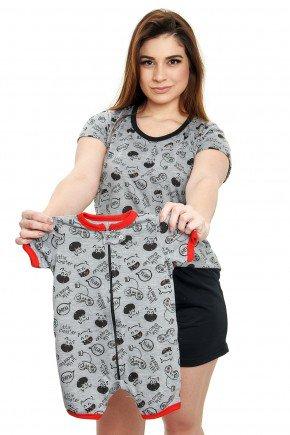 Pijama Mãe e Bebê de Monstrinhos