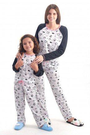 Pijama de Inverno Mae e Filha   Comprido com Cala   Pinguim   Mania Pijamas 1