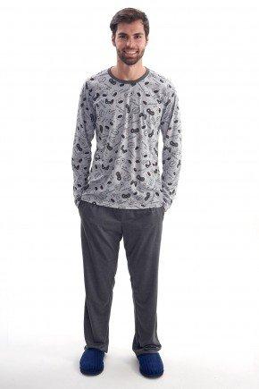 pijama de inverno masculino monstrinhos longo com calca mania pijamas 4
