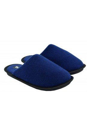 chinelo de quarto masculino felpudo azul