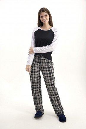 pijama de inverno feminino com calca xadrez mania pijamas 2