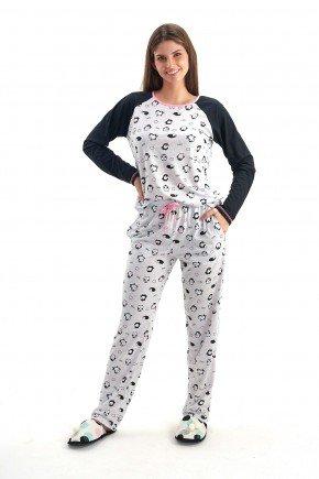 pijama de inverno feminino longo pinguim mania pijamas 2