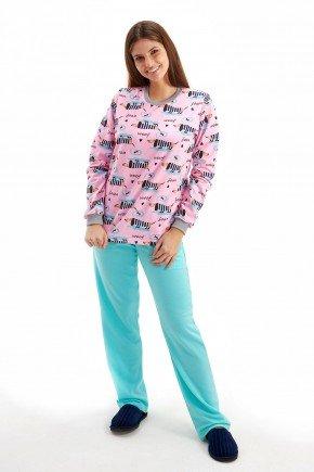 pijama feminino flanelado inverno cachorrinhos salsicha mania pijamas 2