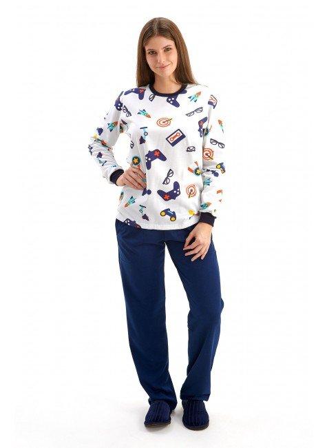 pijama geek feminino flanelado inverno adulto mania pijamas 2
