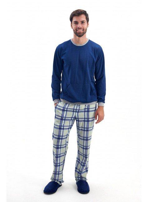 pijama masculino flanelado inverno xadrez mania pijamas 2