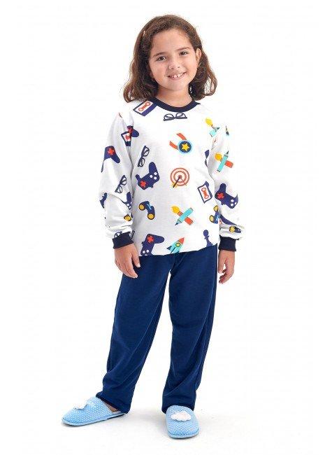pijama infantil feminino menina flanelado video game mania pijamas 2