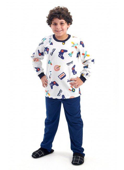 pijama infantil masculino menino flanelado video game mania pijamas 2