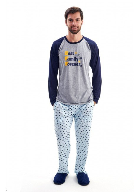 pijama de inverno masculino best family estrelas bff 2021 mania pijamas 3