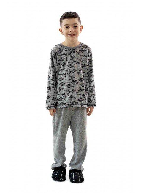 pijama flanelado infantil masculino dinossauros 1