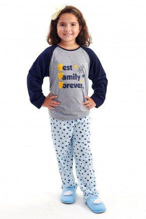 pijama de inverno infantil feminino menina estrelas bff mania pijamas 2