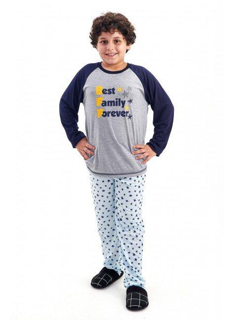 pijama de inverno infantil masculino menino em malha estrelas bff mania pijamas 4