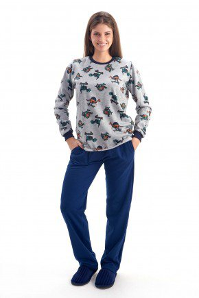 pijama feminino flanelado dinossauro mania pijamas 3